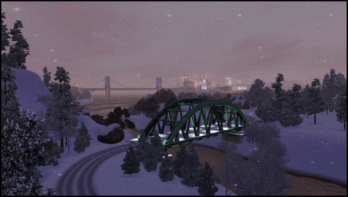 North Point bridge in Winter