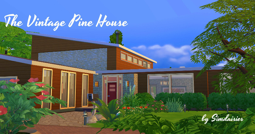 TS4 Lot: The Vintage Pine House
