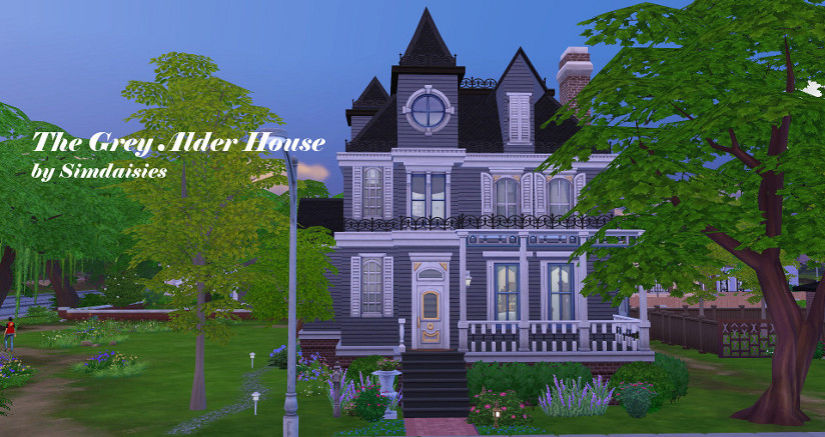 TS4 Lot: The Grey Alder House